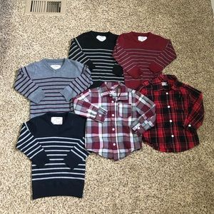 Lot of toddler sweaters and button downs